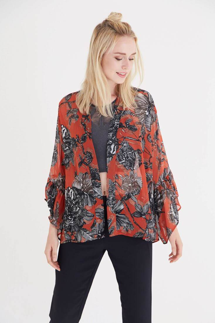 Mixed Kimono With Pattern