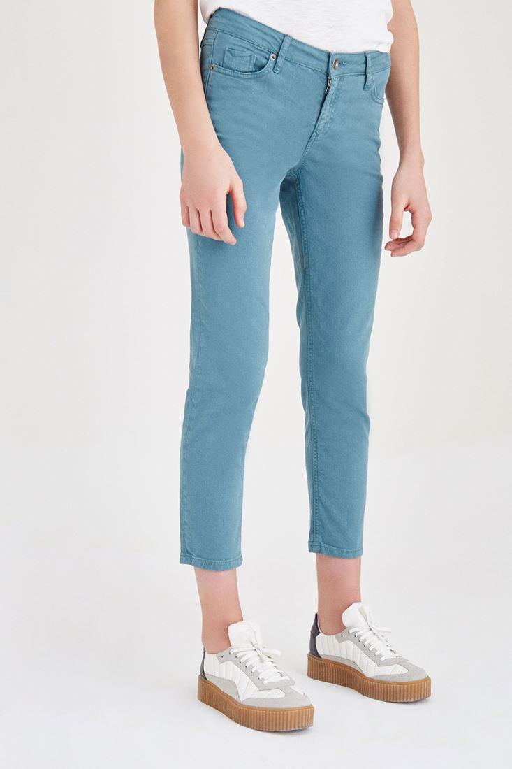 Bayan Yeşil Kısa Paça Boyfriend Pantolon