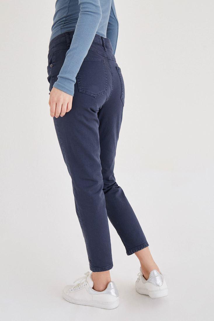 Bayan Gri Kısa Paça Boyfriend Pantolon