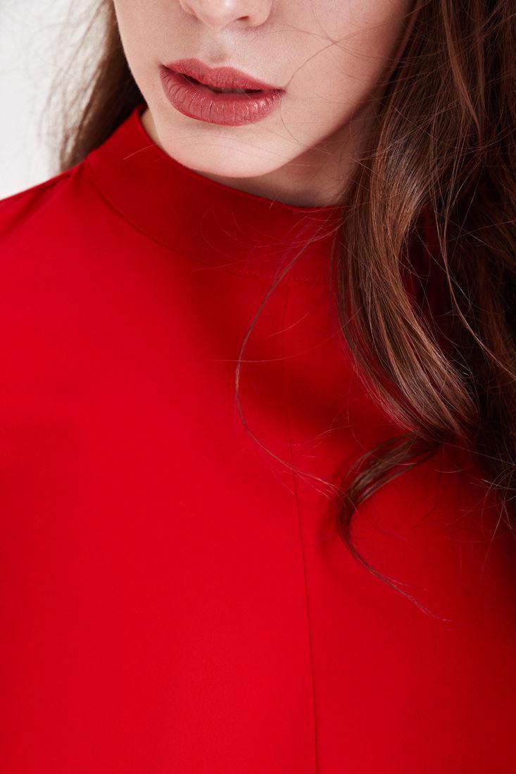 Bayan Kırmızı Sırt Detaylı Tulum