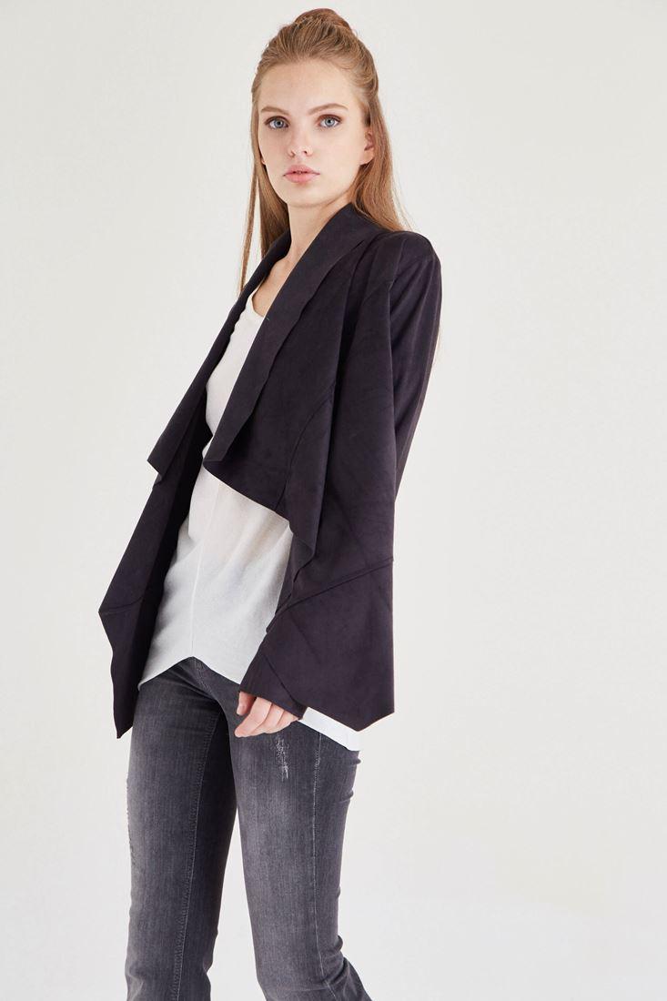 Bayan Siyah Süet Ceket
