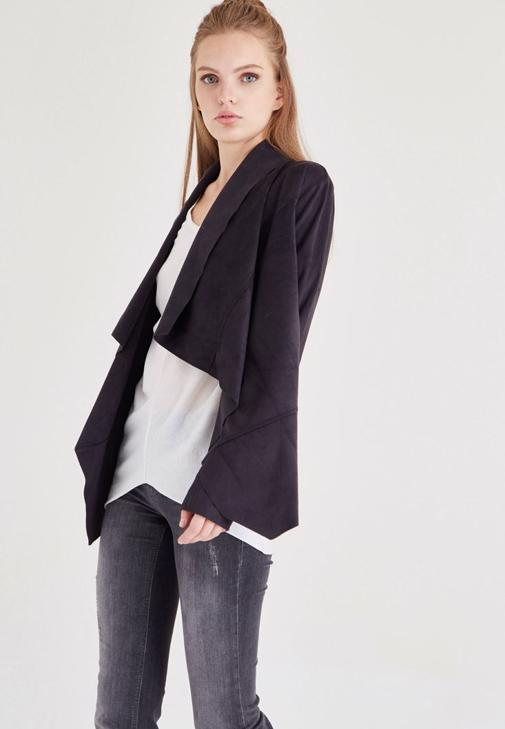 Siyah Süet Ceket