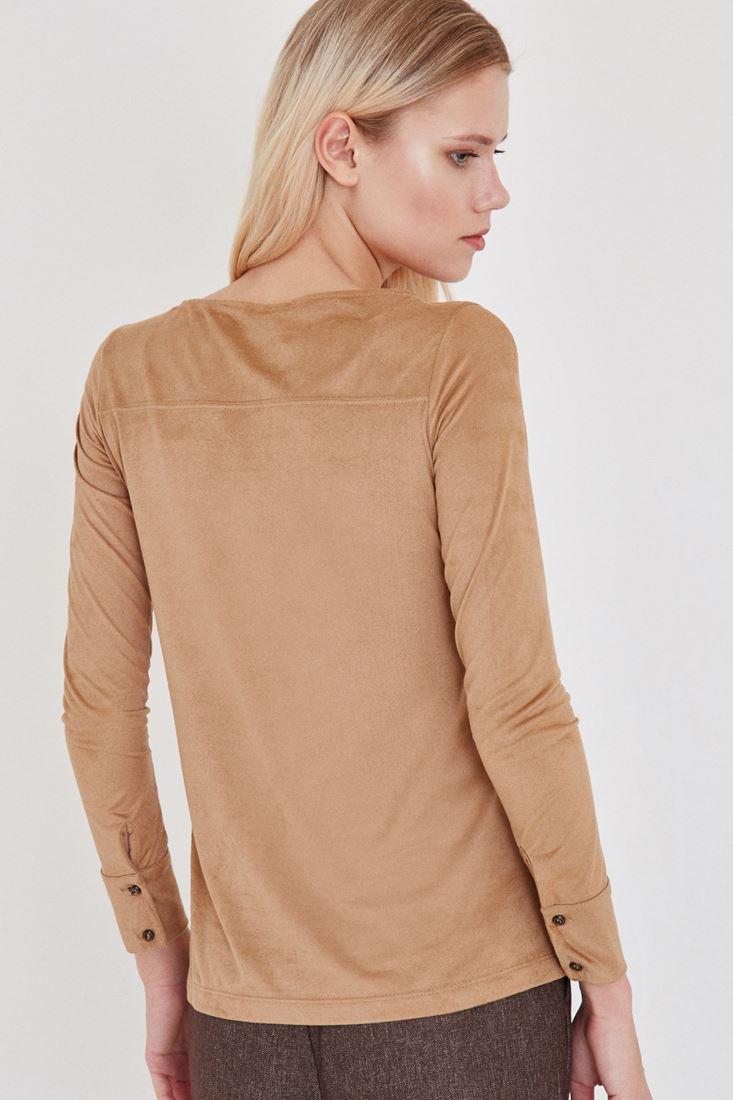Bayan Kahverengi Süet Gömlek