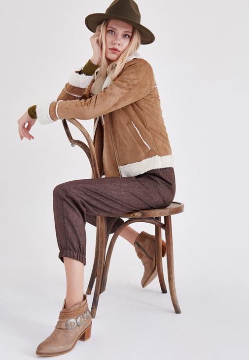 Kahverengi Kürklü Ceket