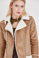Bayan Kahverengi Kürklü Ceket