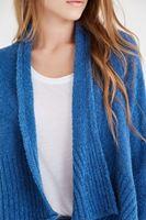 Bayan Mavi Uzun Kalın Hırka