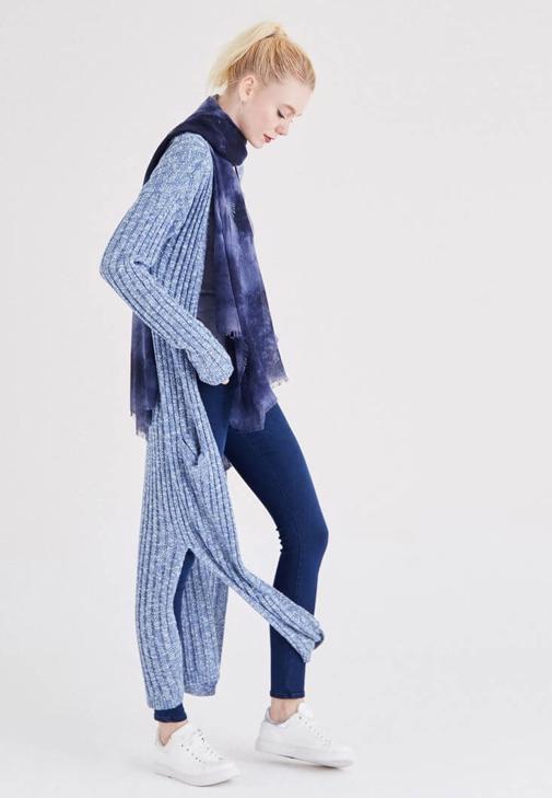 Mavi Uzun Hırka