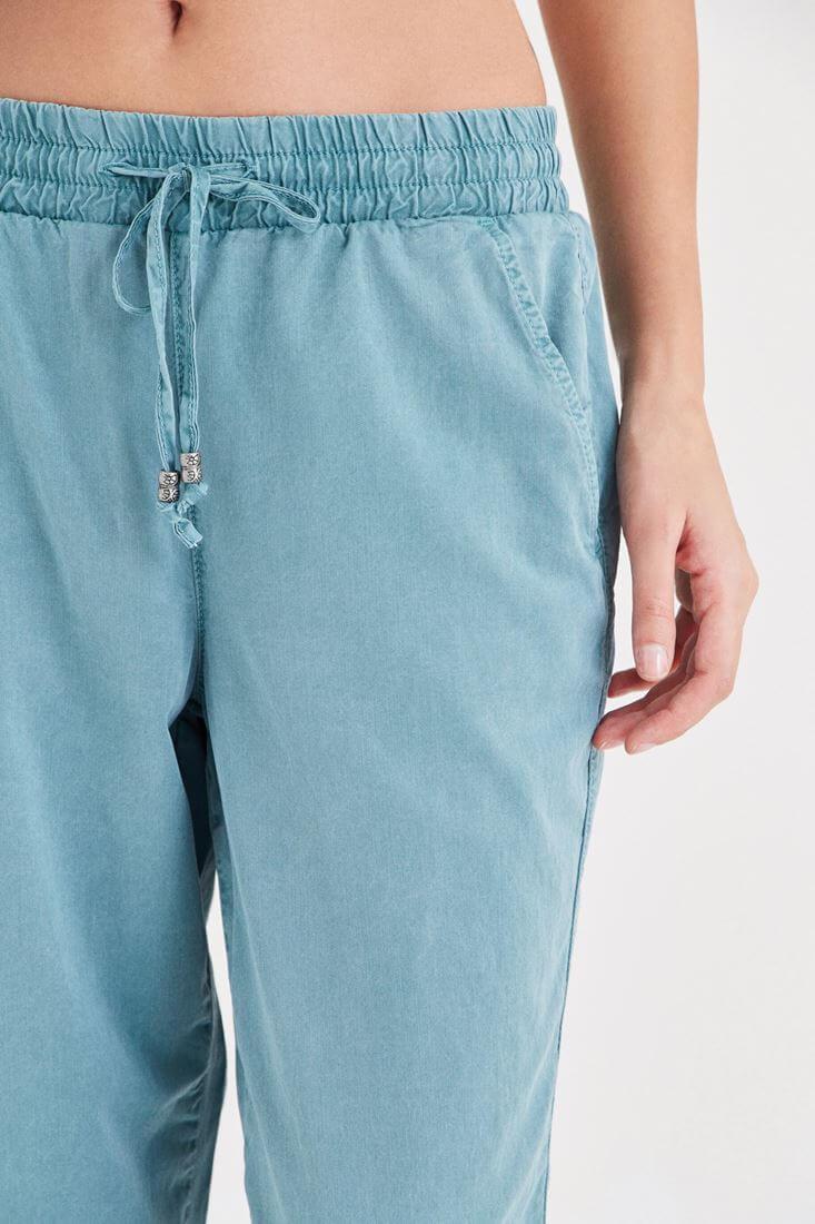 Bayan Yeşil Havuç Pantolon