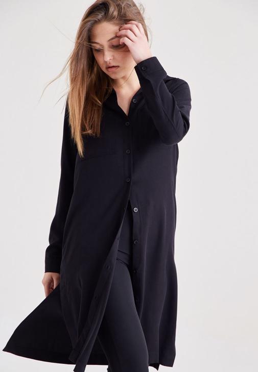 Siyah Uzun Gömlek