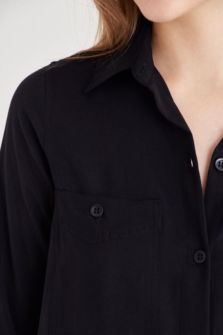 Bayan Siyah Uzun Gömlek