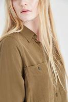 Bayan Yeşil Uzun Gömlek