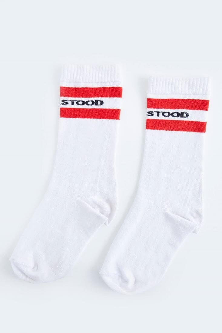 Bayan Beyaz Uzun Çorap