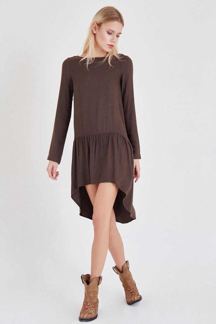 Brown Frilled Dress