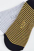 Bayan Beyaz Çizgili Babet Çorabı
