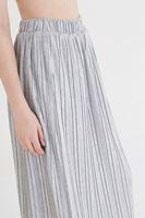 Bayan Gri Pileli Uzun Etek