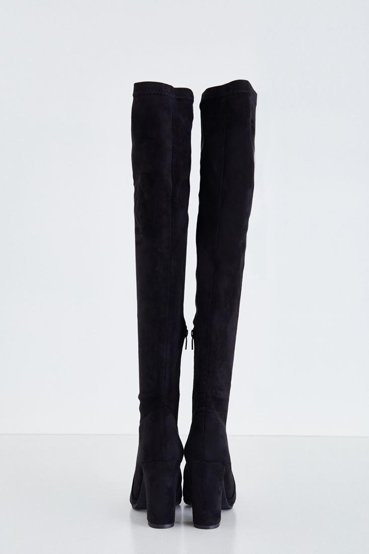 Bayan Siyah Uzun Süet Çizme