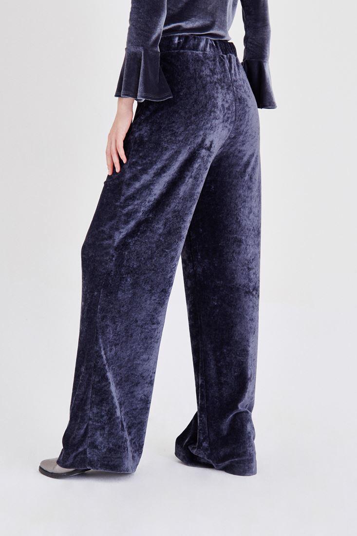 Bayan Gri Kadife Pantolon