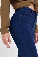 Bayan Mavi Ultra Yüksek Bel İspanyol Paça Pantolon