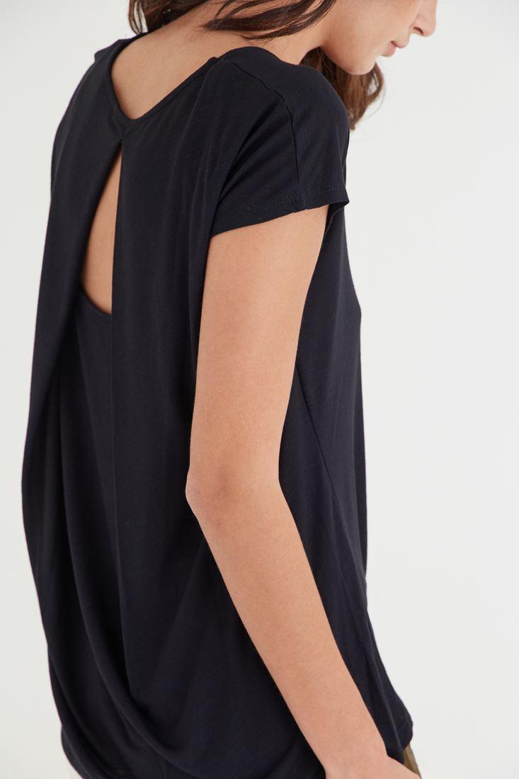 Bayan Siyah Sırtı Pencereli Bluz