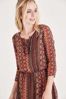 Bayan Çok Renkli Desenli Kısa Elbise