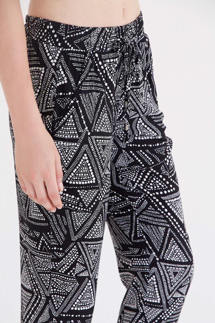 Bayan Çok Renkli Desenli Pantolon