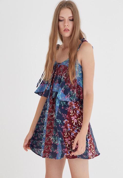 Çok Renkli İki Katlı Elbise