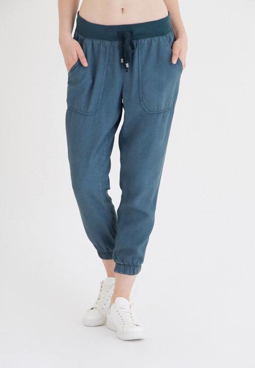 Yeşil Bol Kesim Bilekli Pantolon