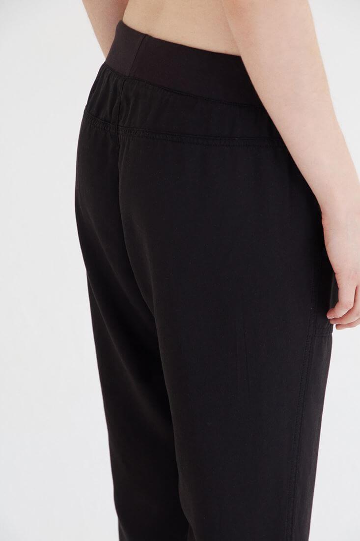 Bayan Siyah Bol Kesim Bilekli Pantolon