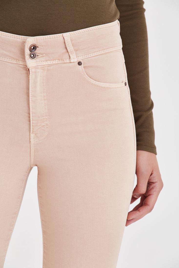 Bayan Kahverengi Yüksek Bel Esnek Pantolon