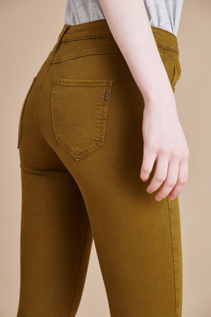Bayan Yeşil Düşük Bel Skinny Pantolon