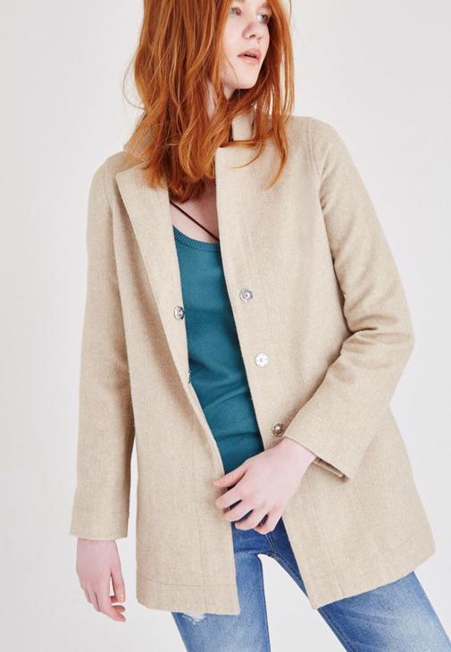 Kahverengi Yün Ceket