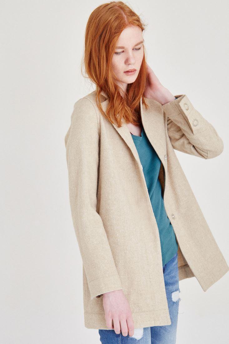 Bayan Kahverengi Yün Ceket
