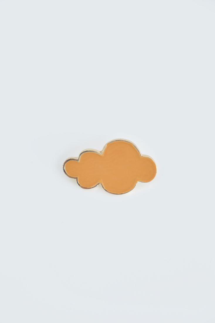 Bayan Turuncu Bulut Rozet