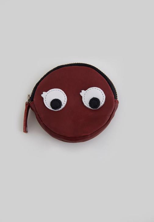 Kırmızı Göz Figürlü Bozuk Para Cüzdanı