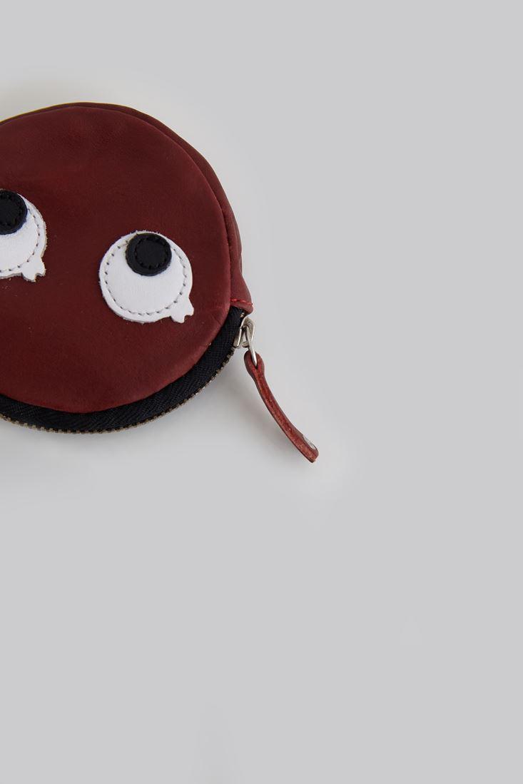 Bayan Kırmızı Göz Figürlü Bozuk Para Cüzdanı