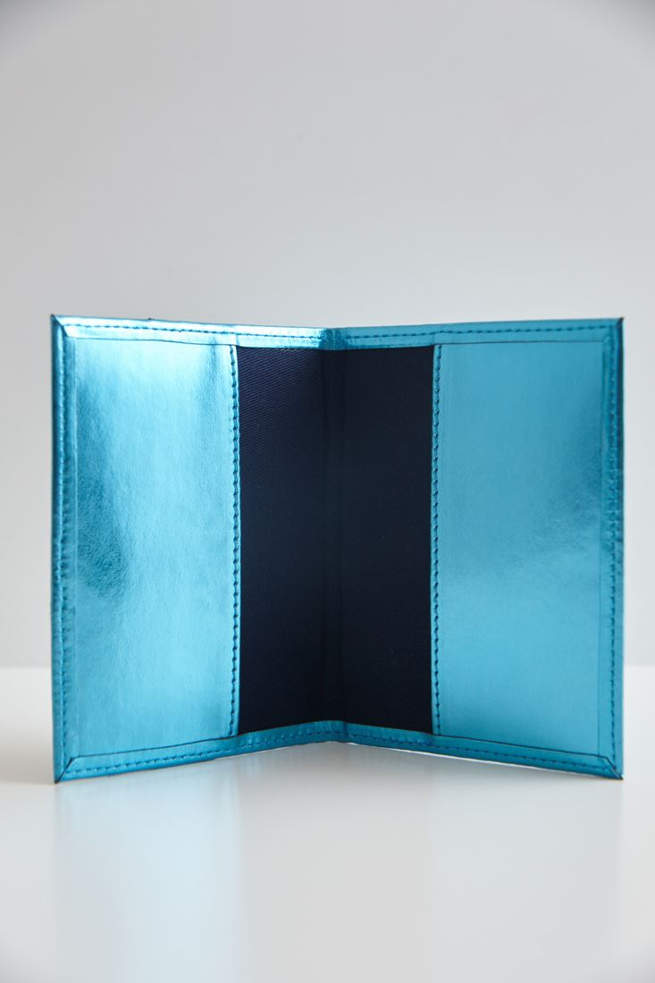 Bayan Mavi Dudak Figürlü Pasaport Kılıfı