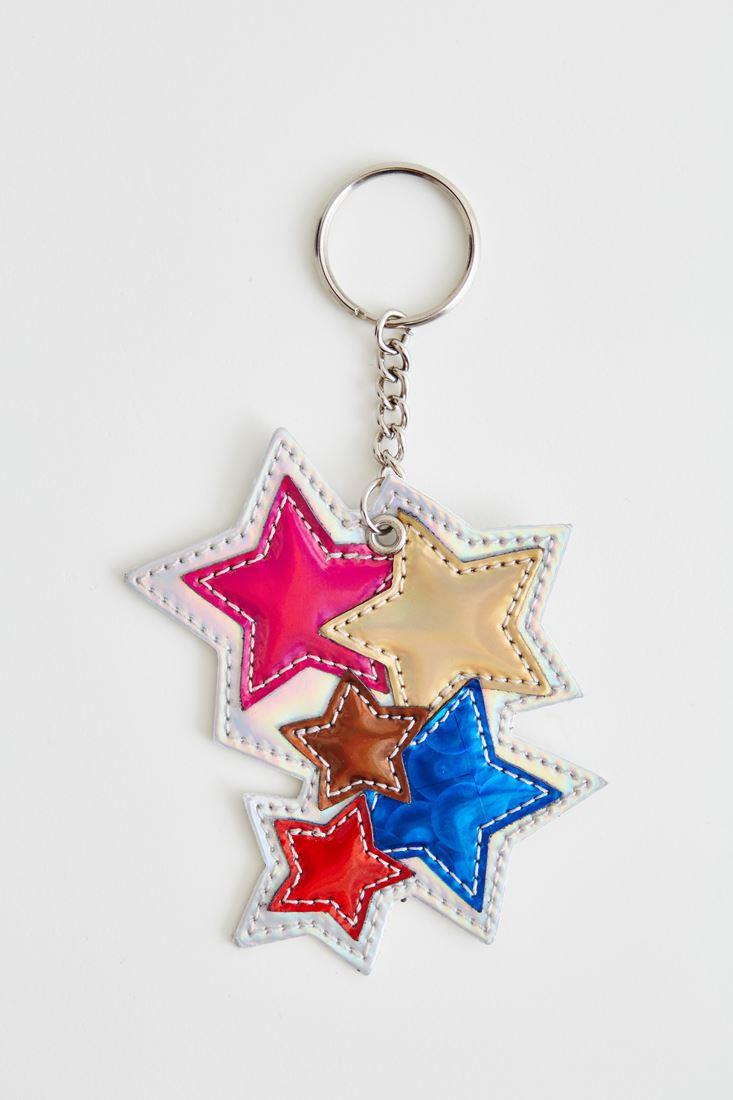 Bayan Gri Yıldızlı Anahtarlık
