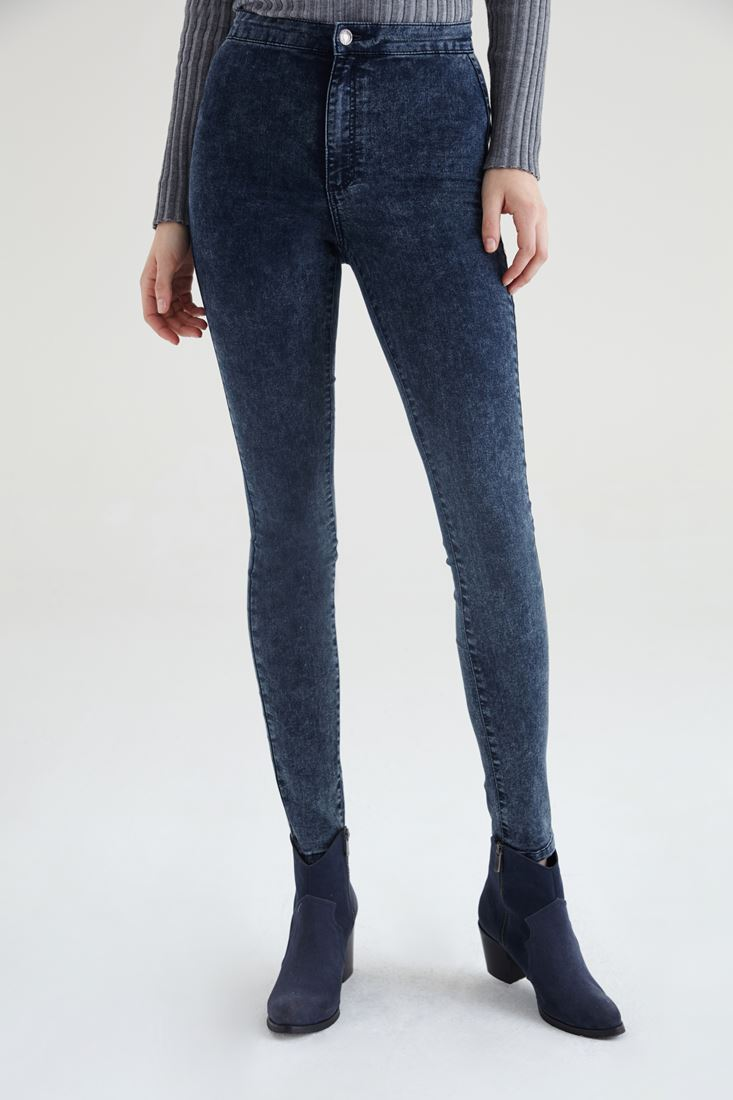Navy High Rise Skinny Jean