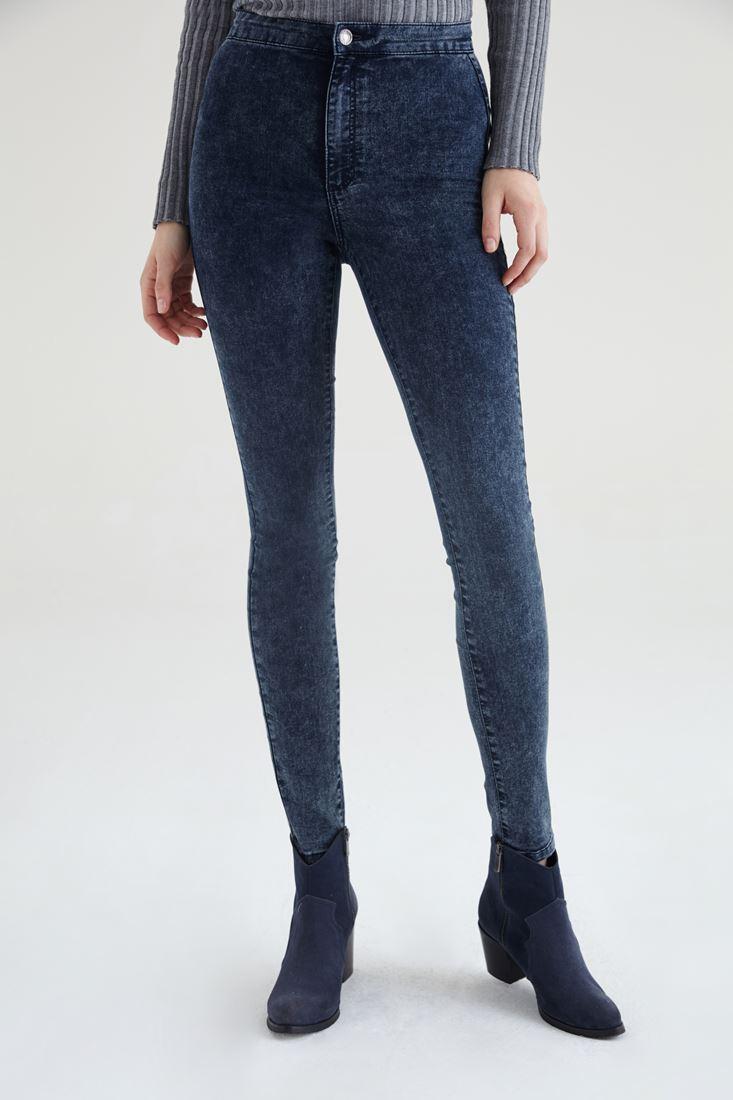 Mavi Yüksek Bel Skinny Pantolon
