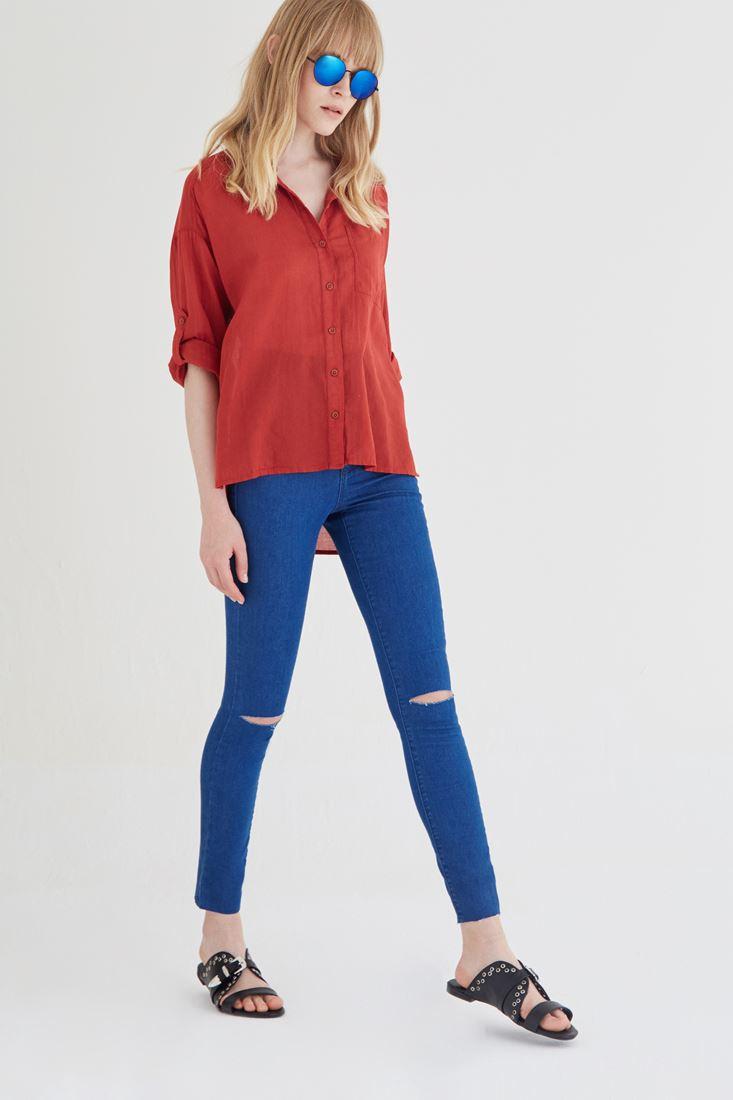 Yüksek Bel Skinny Pantolon