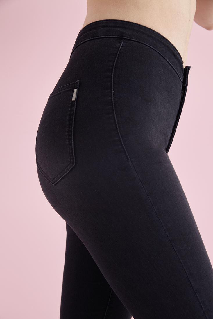Bayan Gri Yüksek Bel Skinny Pantolon
