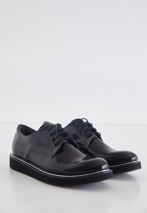 Siyah Parlak Kolej Ayakkabısı