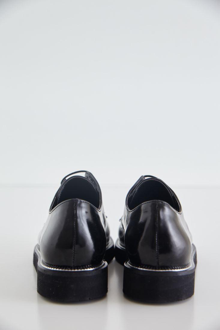 Bayan Siyah Parlak Kolej Ayakkabısı
