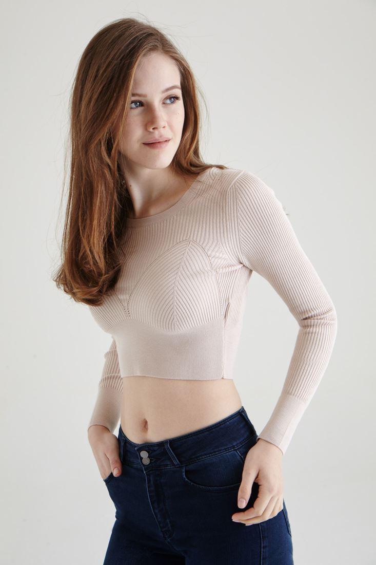 Cream Knitwear Croptop