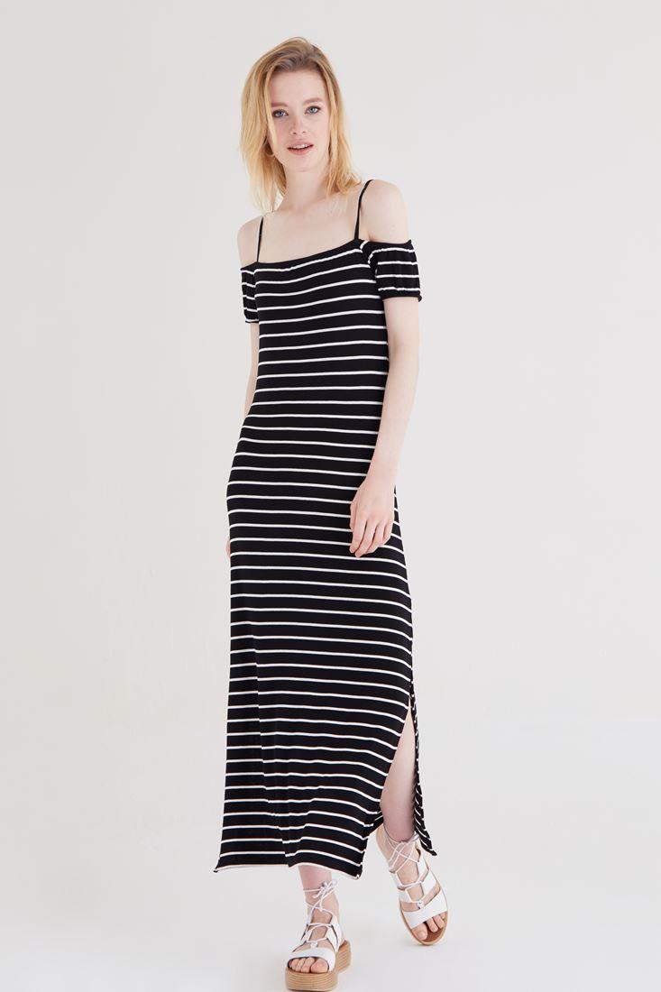 Çok Renkli Çizgili Elbise