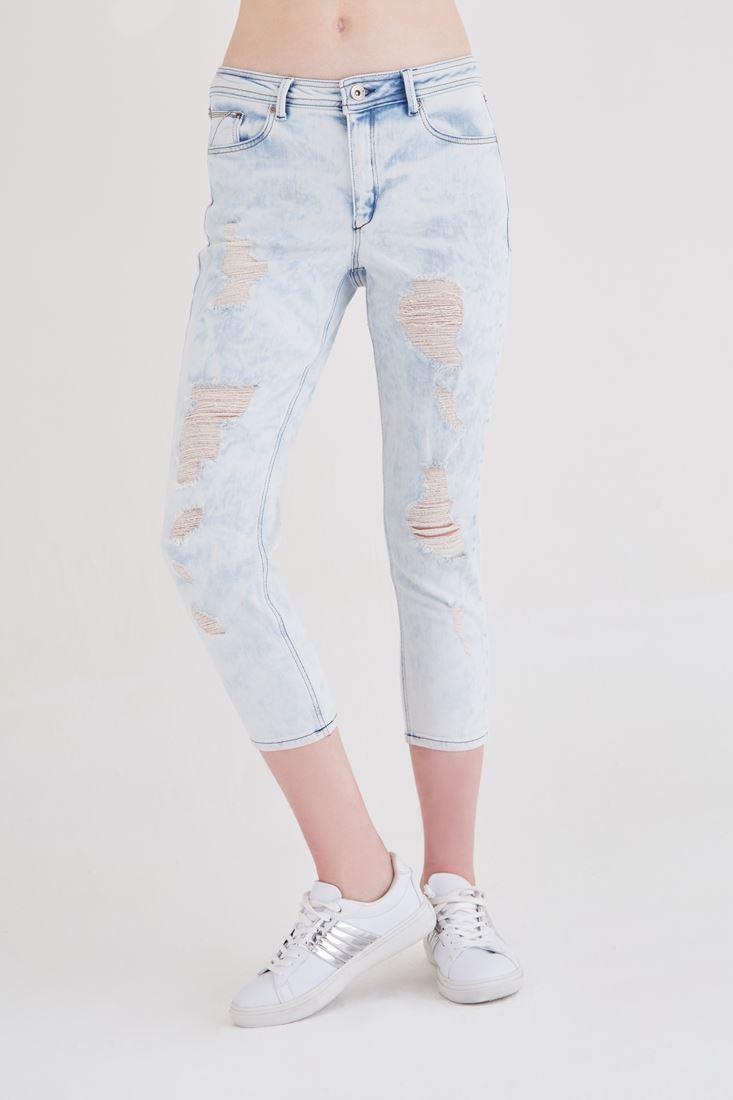 Mavi Rahat Kesim Denim Pantolon