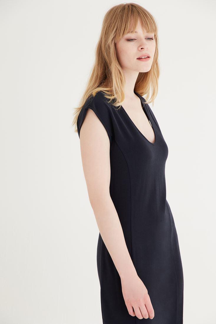 Bayan Gri Uzun Elbise