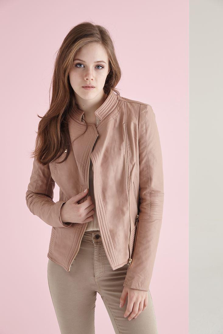 Çapraz Fermuarlı Ceket