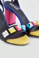 Bayan Çok Renkli Topuklu Ayakkabı
