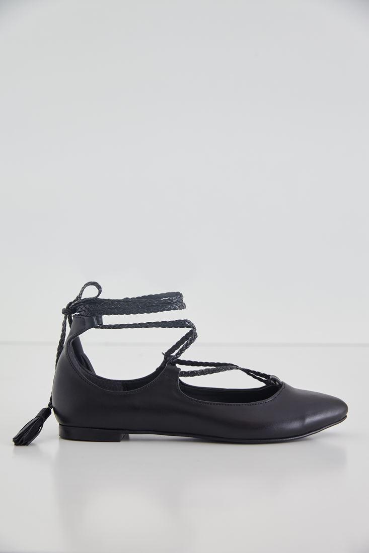 Black Lace Detail Flats